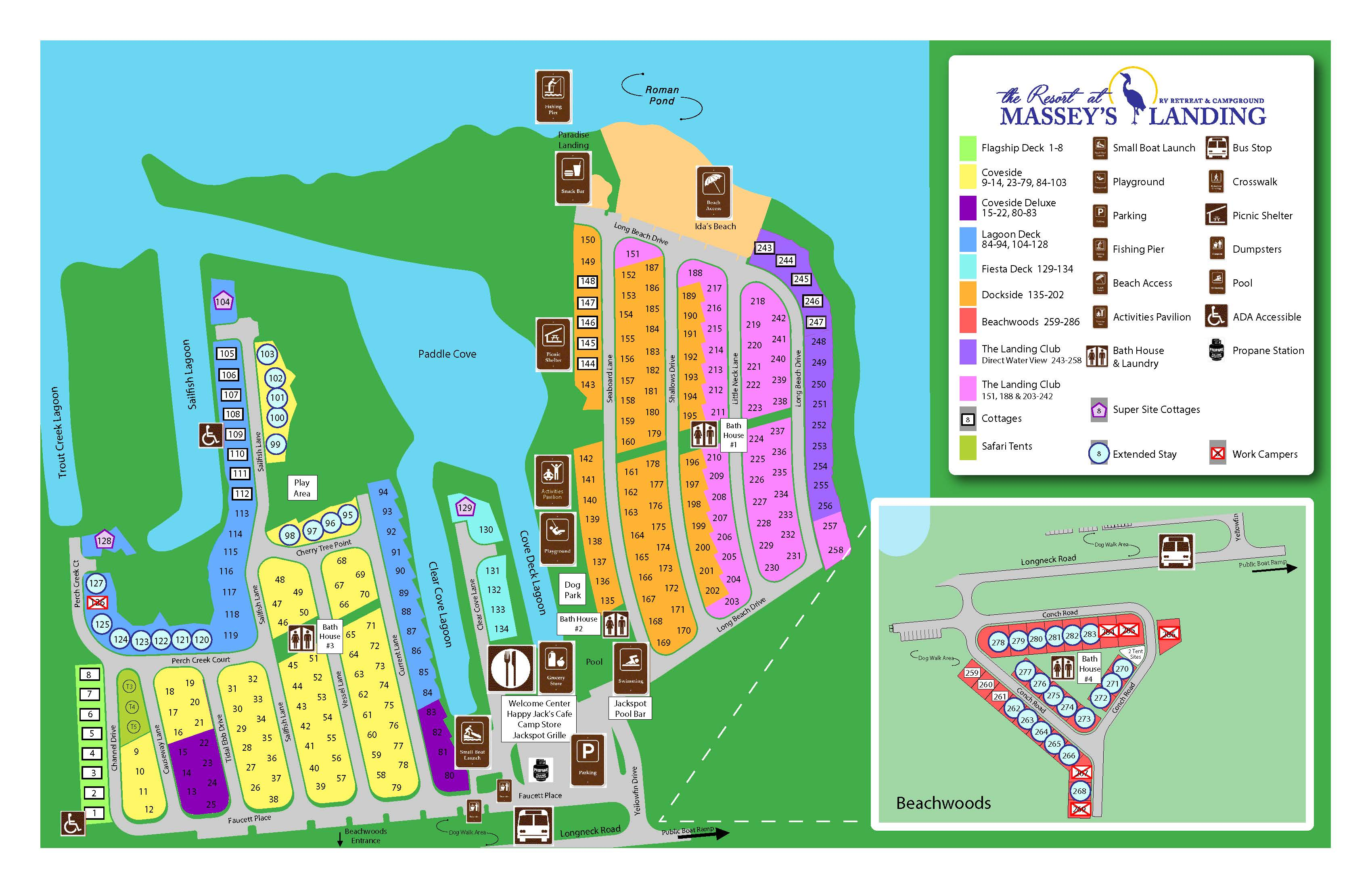 Site Map The Resort At Massey S Landing