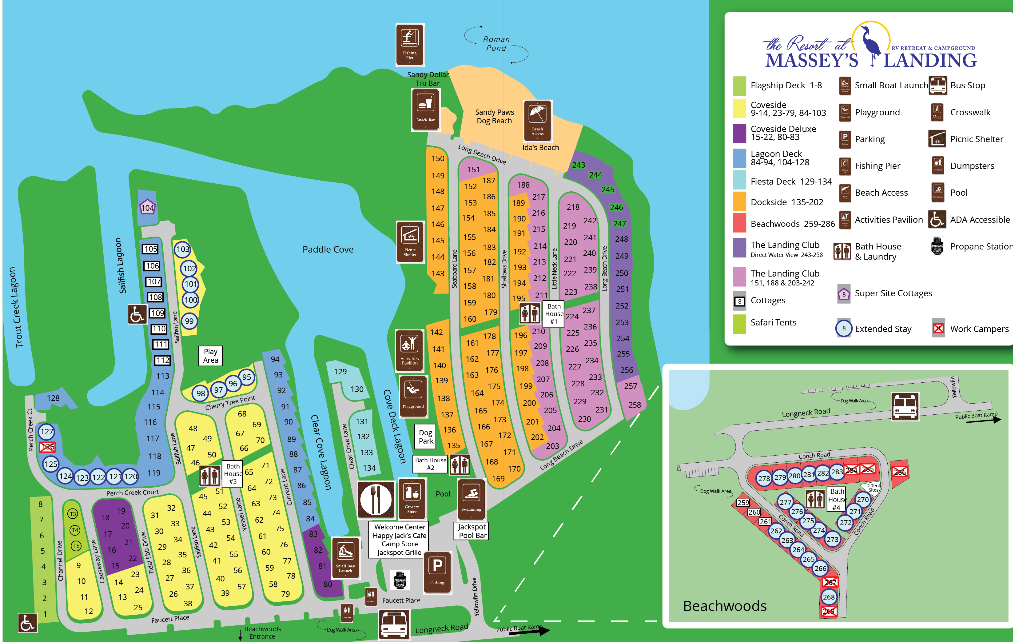 The Resort at Massey's Landing Site Map