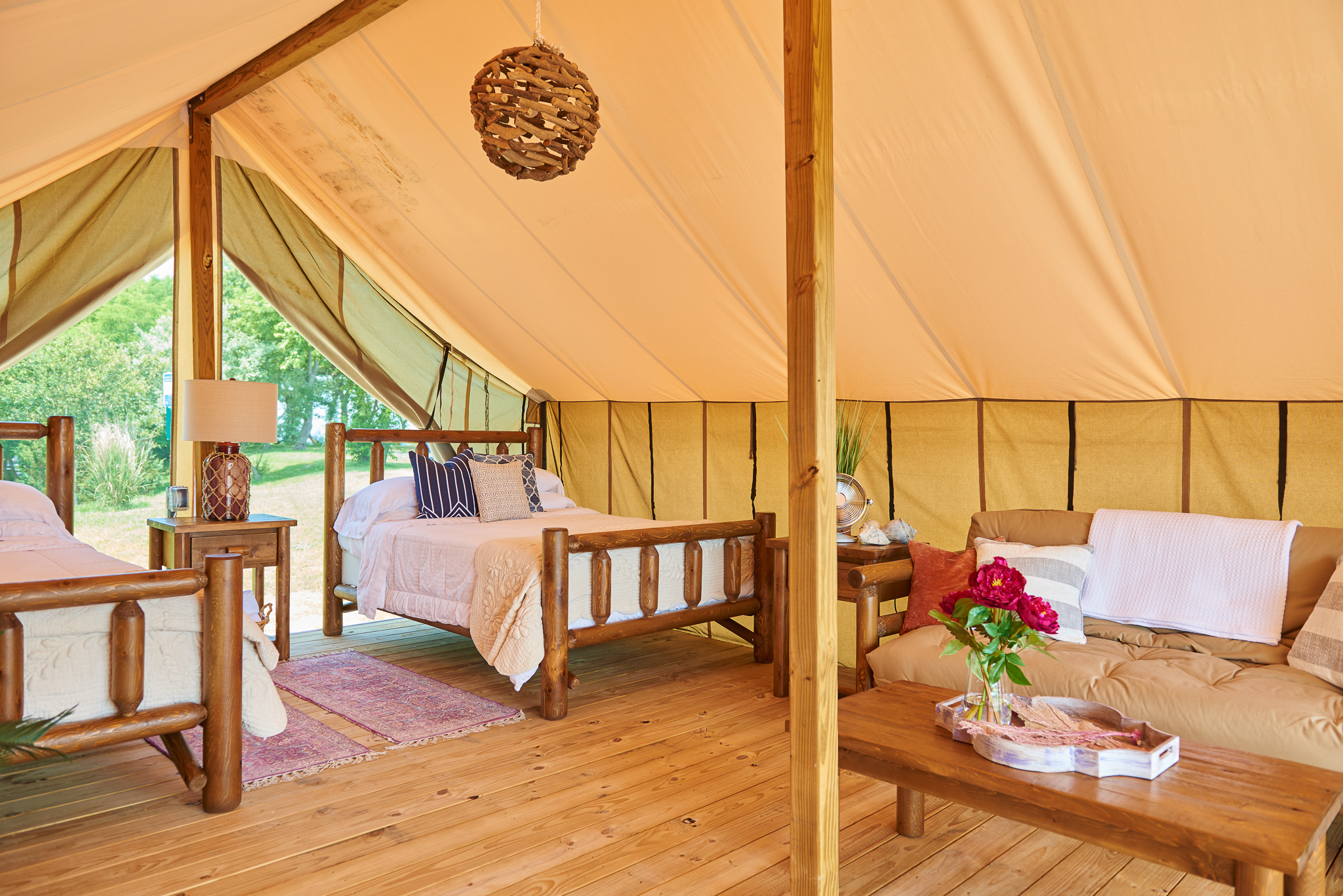 Masseys landing safari tent
