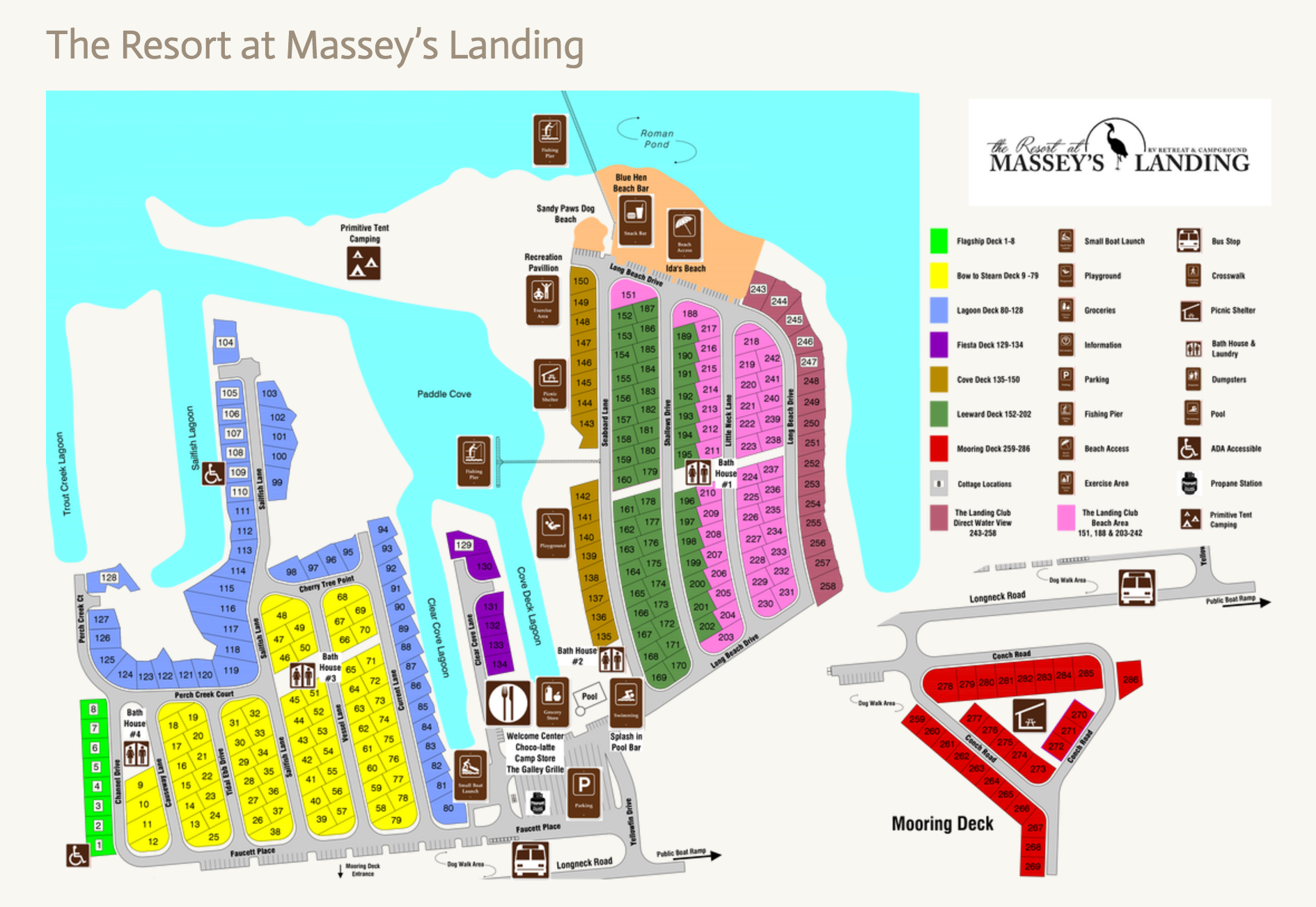 Mapa de Massey ' s RV Retreat y Camping Resort