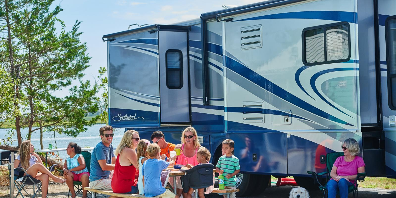 Family at Massey's RV site